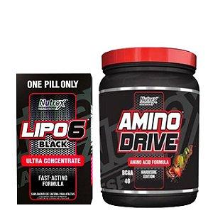 COMBO NUTREX - AMINO DRIVE 200g E LIPO 6 BLACK 60 Cápsulas