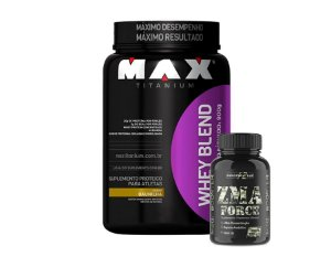 Whey Max Blend 900g + Zma Force 120 caps