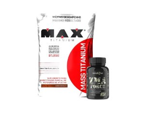Mass Titanium 3kg + Zma 120 cáps Force Full