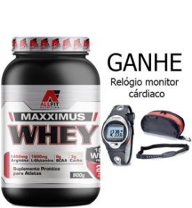 Whey Maxximus 900g + Relógio Brinde - All Fit Nutrition