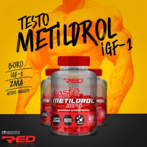 Testo Metildrol IGF-1 60 tabletes - RED SERIES