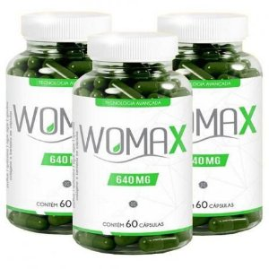 Womax 640mg 60 CPS Kit Com 3 + omega 3 120 cápsulas