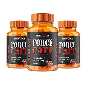 Force Caff Thermo Emagrecimento Termogênico 60 cápsulas de 1000mg Kit com 3