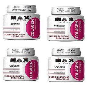 Colageno kit com 4 - 100 Cápsulas Cada Frasco - Max Titanium
