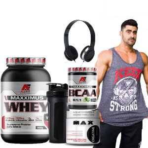 COMBO MONSTRO -WHEY+BCAA 300GR+CREATINA 300G+REGATA+COQUET-CHOCOLATE