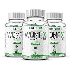 Womax emagrecedor kit com 3 potes 60 cápsulas