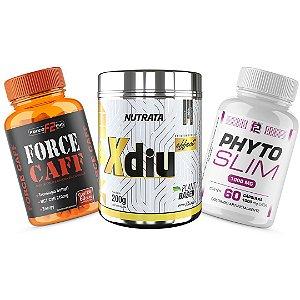 Combo Kit Emagrecedor - Cafeína Com óleo de coco + Phyto Slim + Xdiu Chá Diuretico