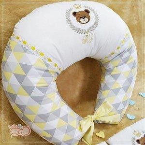 Almofada Amamentação Ursinho Príncipe Amarela