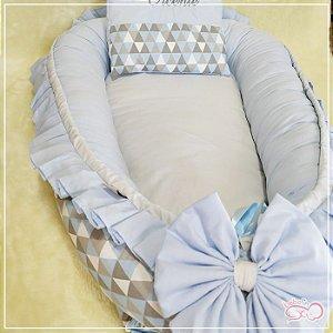Ninho Azul Bebê com Estampa Triangular Personalizado