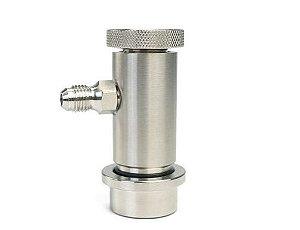 Conector Ball lock Liquido - Rosca 7/16'' - Com controle de fluxo