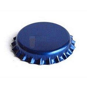 Tampinha metalica pry off Azul Metálico 26mm c/ 100g (aprox. 50 und)