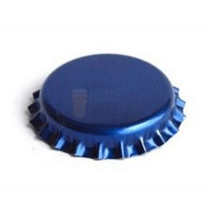 Tampinha metalica pry off Azul Metálico 26mm c/ 200g (aprox. 100 un)