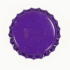 Tampinha metalica pry off Roxa 26mm c/ 100g (aprox. 50 un)