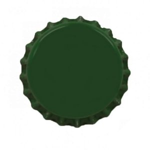 Tampinha metalica pry off Verde 26mm c/ 200g (aprox. 100 un)