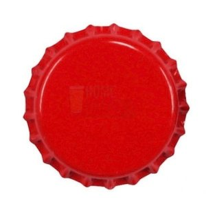 Tampinha metalica pry off Vermelho Cereja 26mm c/ 100g (aprox. 50 un)