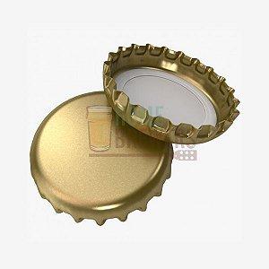 Tampinha Corona 29mm - dourada 50un.