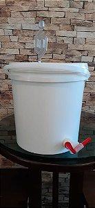 Balde Fermentador 12 litros- Completo c/ Airlock e Torneira