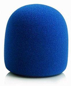 Espuma Para Microfone de Mão Azul