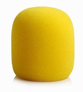 Espuma Para Microfone de Mão - Amarela