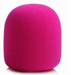 Espuma Para Microfone de Mão - Rosa