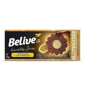 Belive - Biscoitos Finos Sabor Maracujá com Chocolate 110g