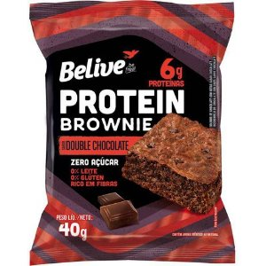 Belive - Brownie Protein Double Chocolate Zero Açúcar 40g