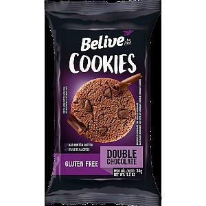Belive - Cookie Sabor Chocolate com Pedaços de Chocolate (Double Chocolate) 34g