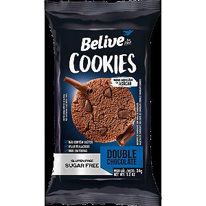 Belive - Cookie Sabor Chocolate com Pedaços de Chocolate Zero Açúcar 34g