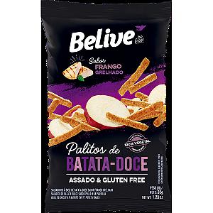 Belive - Palitos de Batata Doce Sabor Frango Grelhado 35g