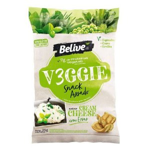 Belive - Snack Veggie Sabor Cream Cheese com Ervas 35g