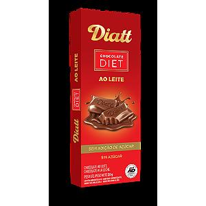 Diatt - Chocolate ao Leite Zero Açúcar  25g