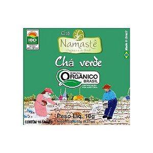 Chá Verde Orgânico Namastê certificado IBD 10 Sachês NAMASTÊ