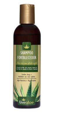 Shampoo Fortalecedor (Aloe Vera, Noni, Açafrão, Moringa e Castanha do Brasil) 240ml LIVEALOE