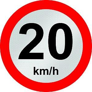 VELOCIDADE MÁXIMA PERMITIDA - R-19 - 20 km