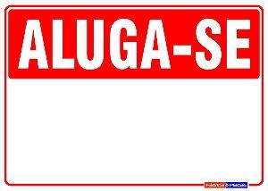 Placa Aluga-se / Vende-se personalizada.