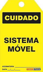 CARTÃO DE TRAVAMENTO - CUIDADO - SISTEMA MÓVEL