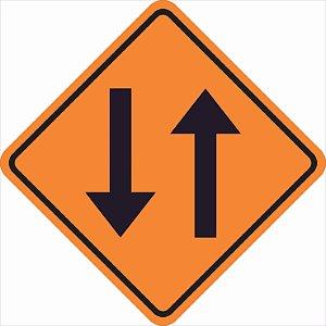 Placas sinalização de Obras 100x100cm - OEP 105