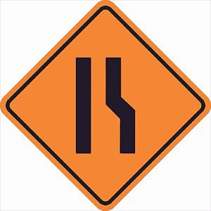 Placas sinalização de Obras100x100cm - OEP 109