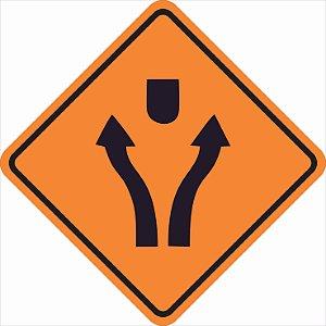 Placas sinalização de Obras 100x100cm - OEP 111