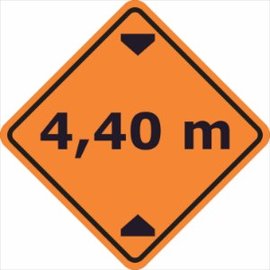 Placas sinalização de Obras 100x100cm - OEP 116