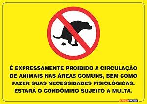 Proibição de Cães nas áreas comuns - PCON 9722