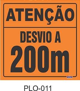 Placa para Sinalização de Obras Rodoviárias - PLO-011