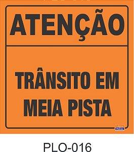 Placa para Sinalização de Obras Rodoviárias - PLO-016