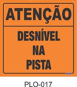 Placa para Sinalização de Obras Rodoviárias - PLO-017