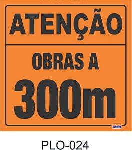 Placa para Sinalização de Obras Rodoviárias - PLO-024