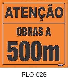Placa para Sinalização de Obras Rodoviárias - PLO-026