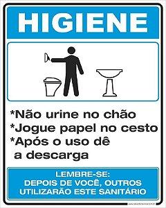Placa Higiene LB 20x25cm