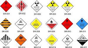 Simbologia de Risco Etiquetas 10x10cm - Pacote com 05 unids.