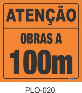 Placa para Sinalização de Obras Rodoviárias - PLO-020