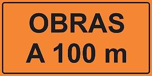 OPE 201 - Placa de Sinalização de Obras em Rodovias. Padrão DNIT. REFLETIVA
